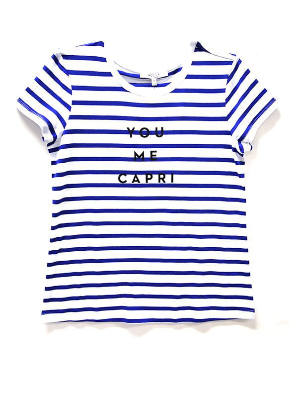 MILLY for DesigNation Striped Tee