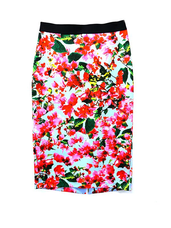 MILLY for DesigNation Floral Skirt