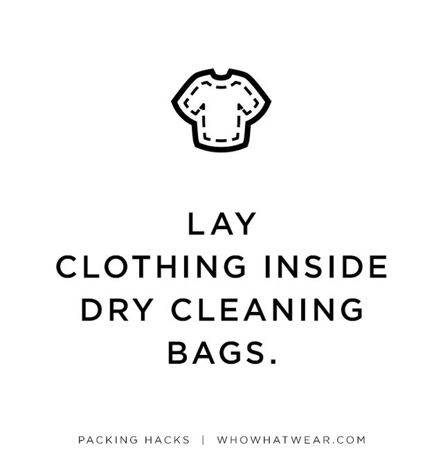 For clothes that wrinkle easily, lay the pieces flat inside a dry-cleaning bag, and then fold as normal. The plastic will prevent creases from setting in.