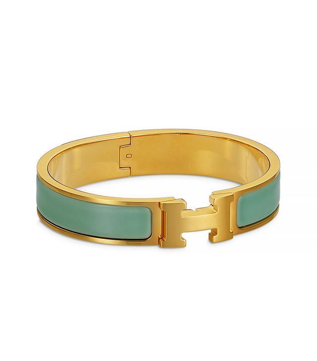Hermes Clic Clac Bracelet in Lagoon Blue