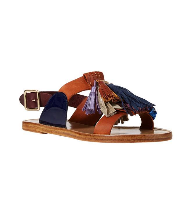 Étoile Isabel Marant Tassel-Embellished Clay Sandals