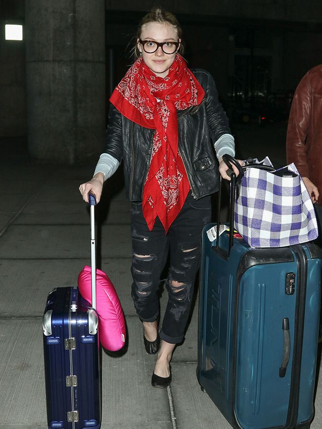 Would You Wear It? Dakota Fanning's Edgy Airport Look