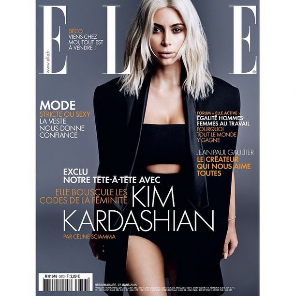 See Kim Kardashian's First Magazine Cover as a Platinum Blonde