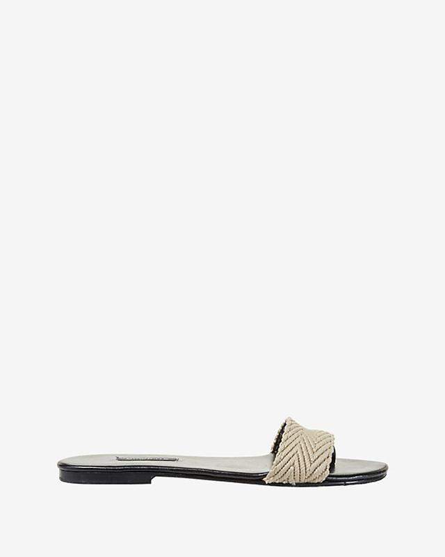 Newbark Newbark Raffia/Leather Flat Sandals