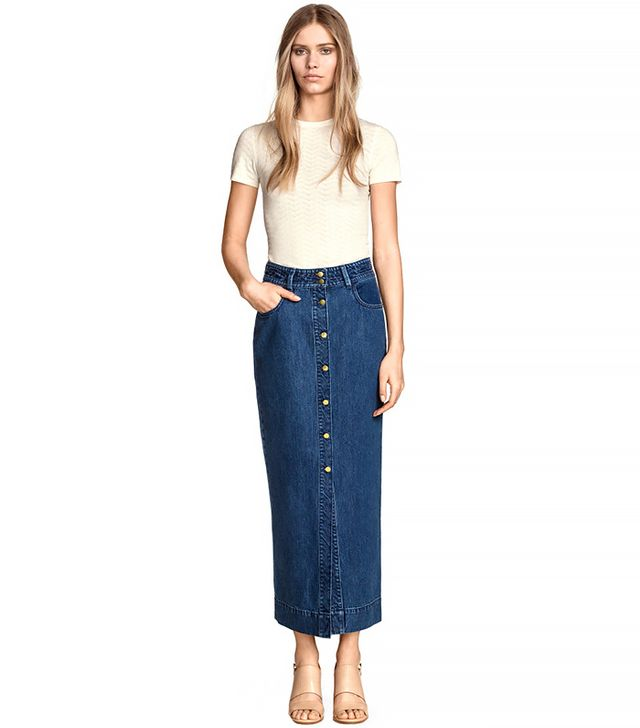 H&M Long Denim Skirt