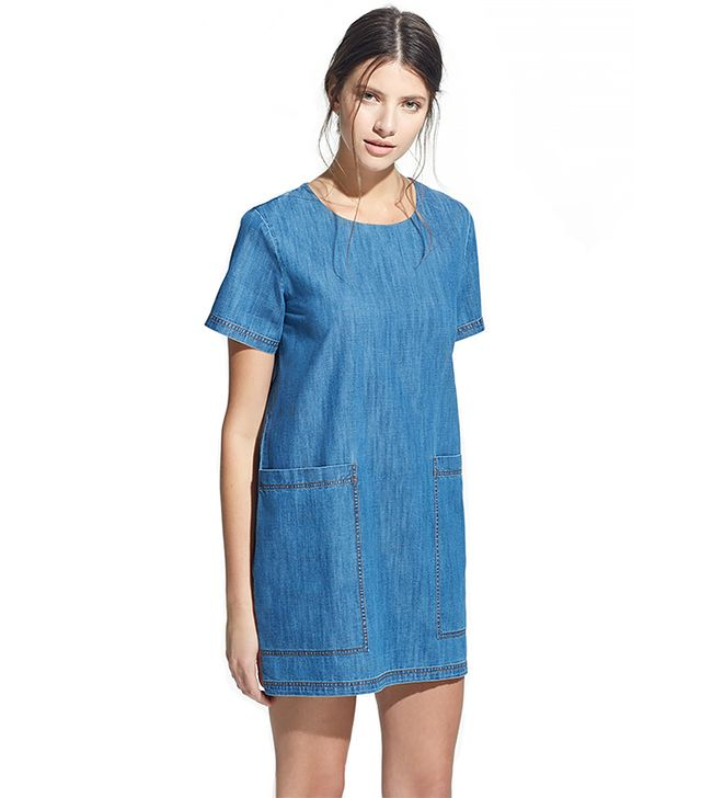 Mango Pocket Denim Dress