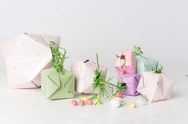origami easter bunny basket instructions