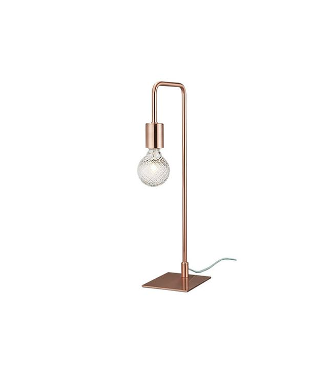 CB2 Copper Arc Table Lamp