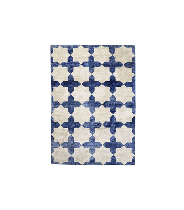 Anthropologie Checkered Stars Rug