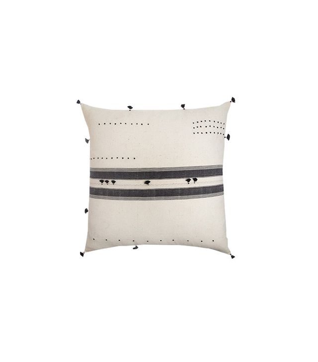 Injiri Center Stripe Khadi Pillow