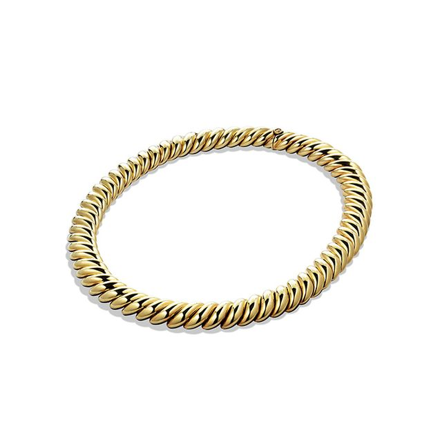 David Yurman Hampton Cable Necklace in Gold