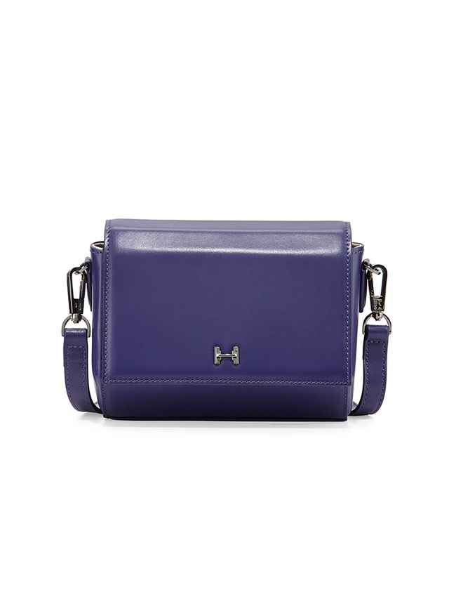 Halston Heritage Structured Mini Leather Crossbody Bag