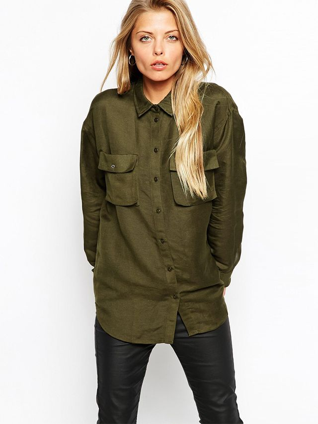 ASOS Military Shirt With Pockets