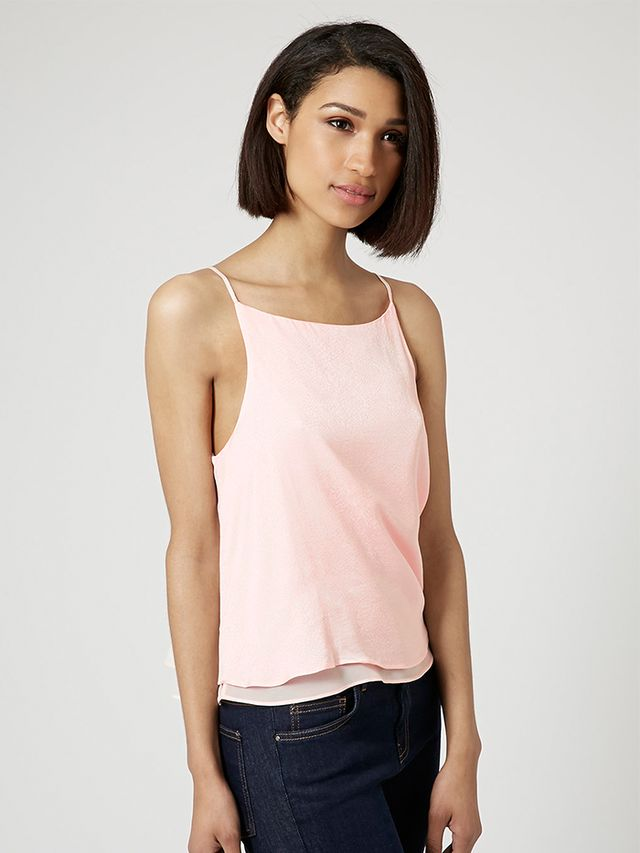 Topshop High Neck Snake Cami