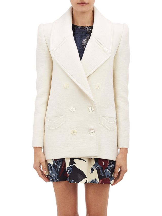 Carven Double-Breasted Wool Crepe Jacket