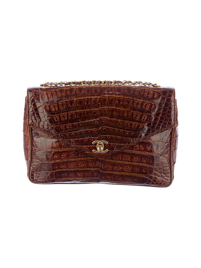 Chanel Crocodile Envelope Flap Bag