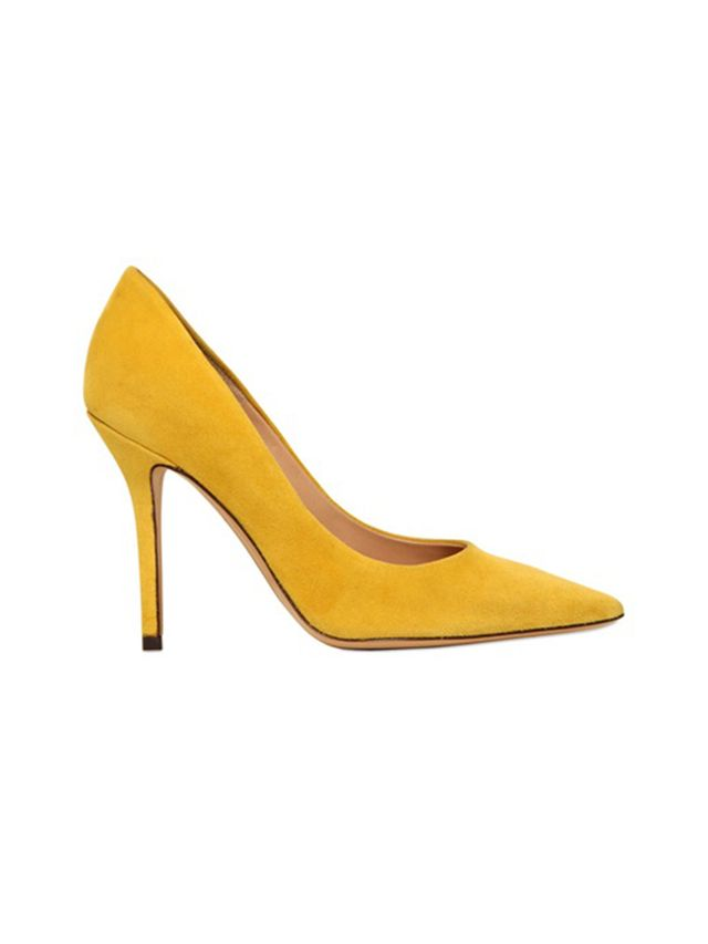 Salvatore Ferragamo 100mm Susie Suede Pointed Toe Pumps
