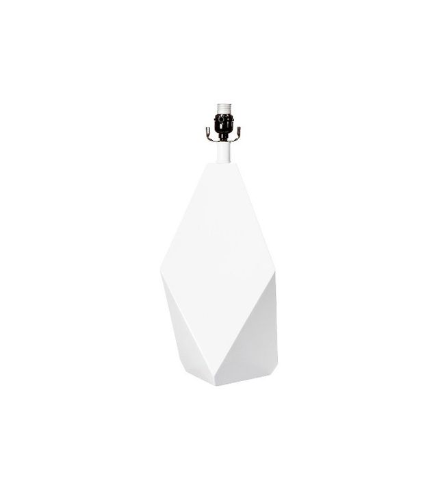 Nate Berkus White Faceted Lamp Base