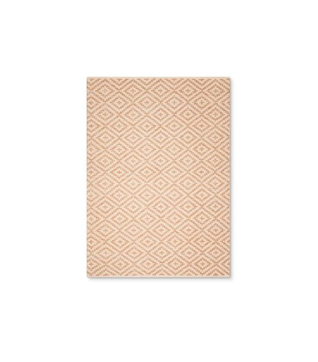 Nate Berkus Cream and Metalli Diamond Area Rug