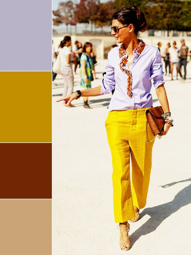 Lavender + Yellow+ Brown + Tan