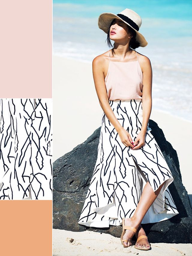 Blush + Black & White Print + Nude