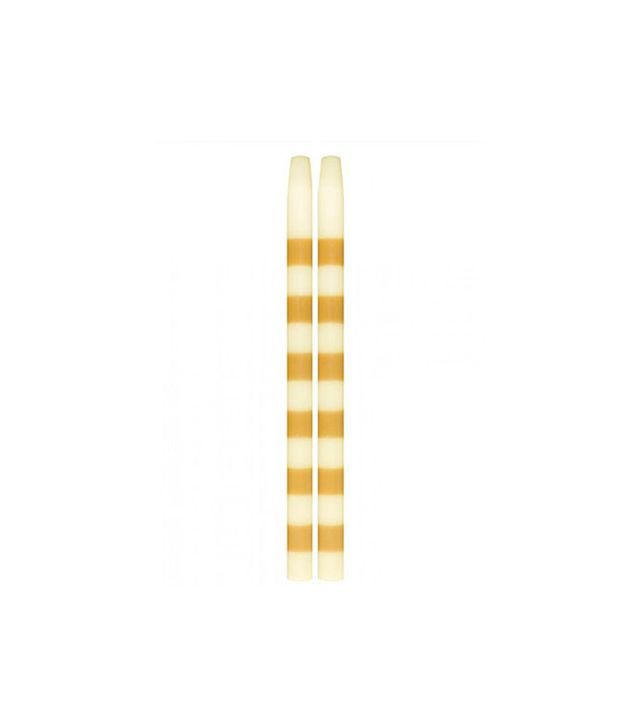 Lulu & Georgia Striped Taper Candle