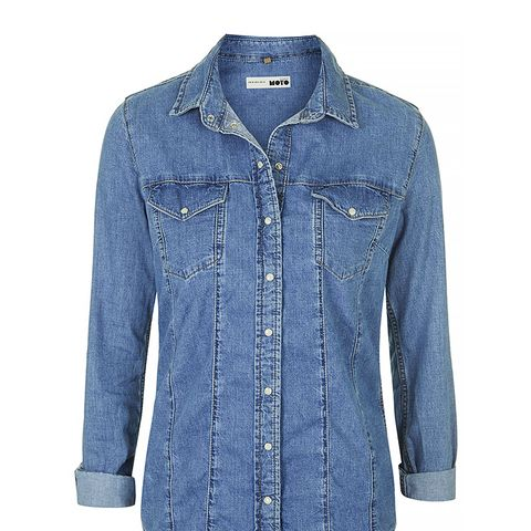 Moto Bleach Western Shirt
