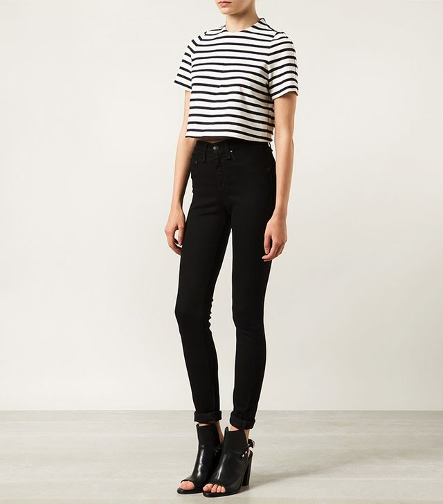 Organic by John Patrick Striped Crop Top