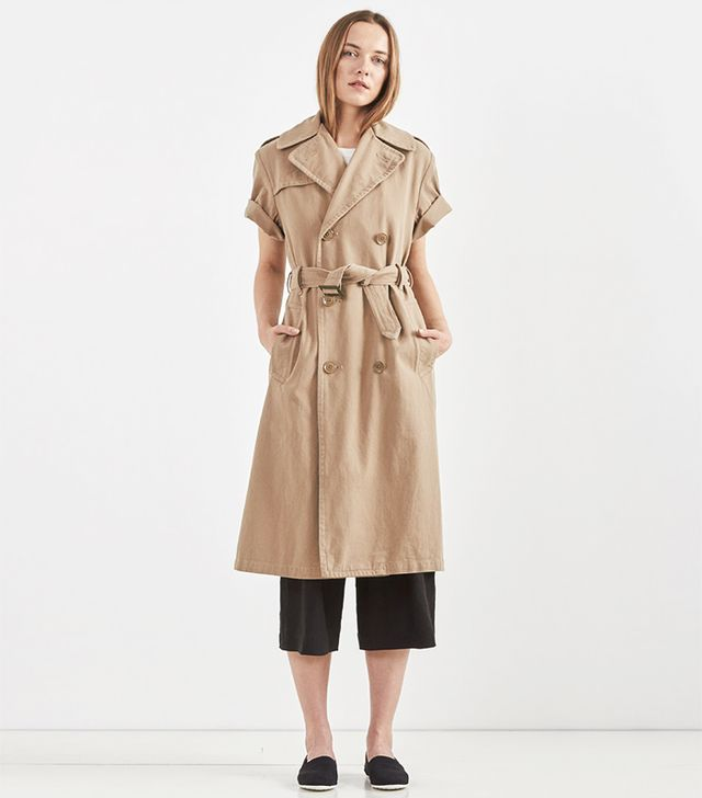 NLST Rolled-Sleeve Trench Coat