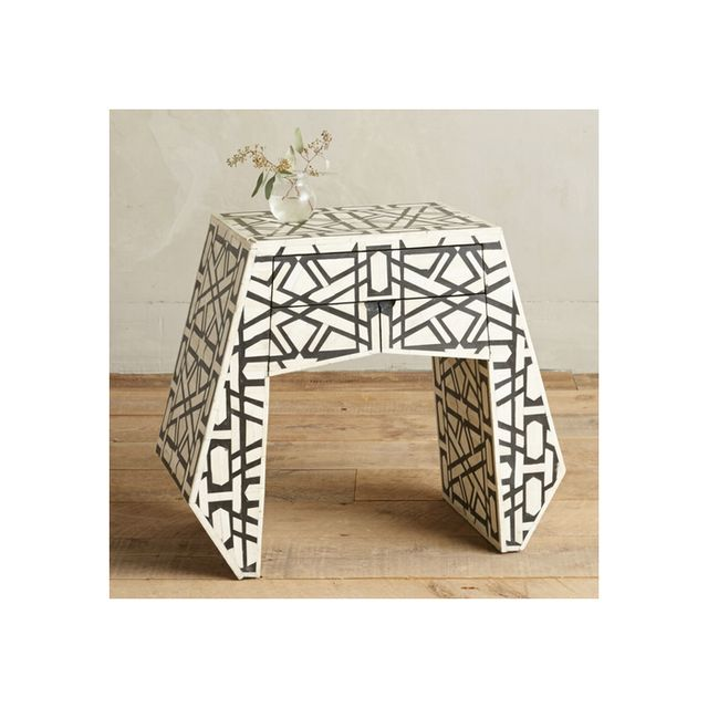Anthropologie Deco Bone Inlay Nightstand