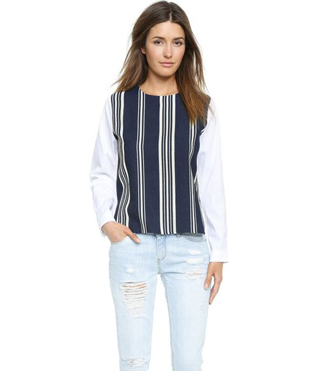 English Factory Striped Blouse