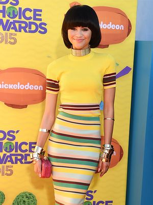 Zendaya Wins the Kids Choice Awards Red Carpet in DKNY