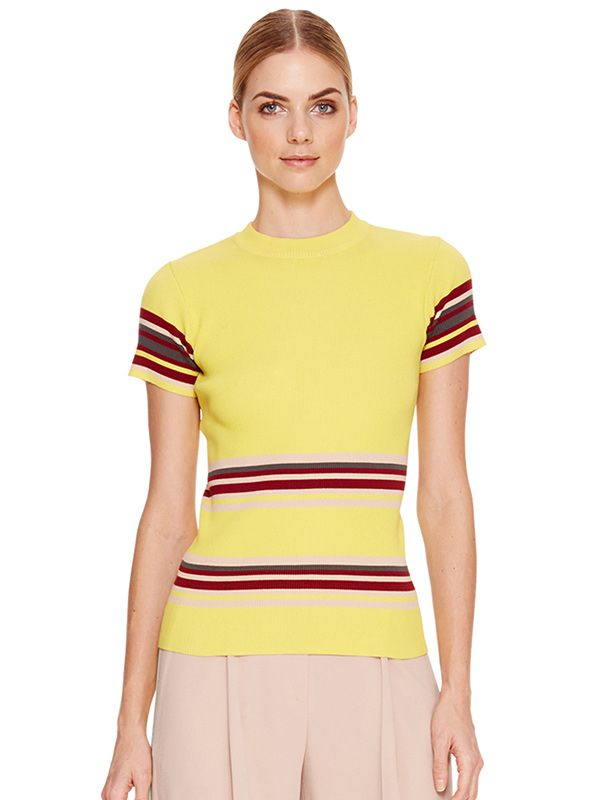 DKNY Cotton Striped Pullover