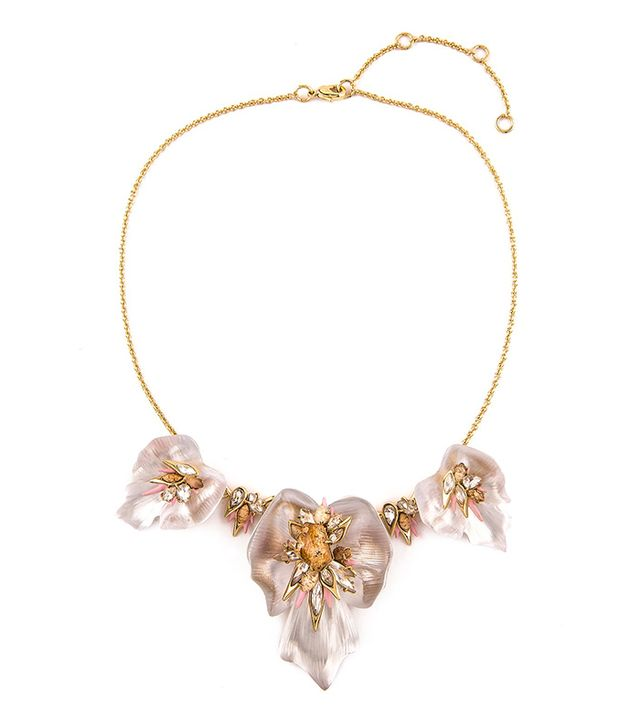 Alexis Bittar Crystal Floral Necklace