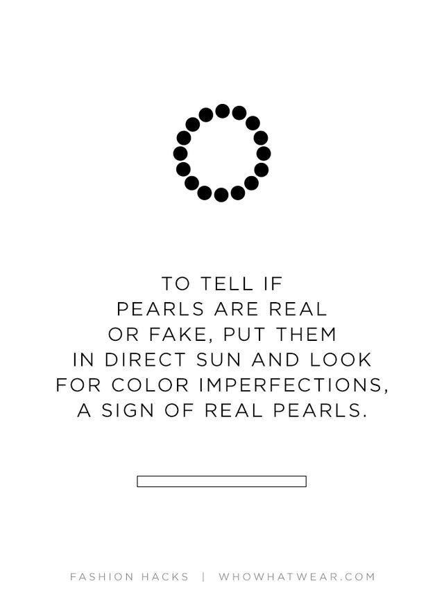 Next time you want to determine if a set of pearls is fake or the real deal, place them under direct sunlight. If the pearls are real, you will see variations in iridescence and colour; if the...