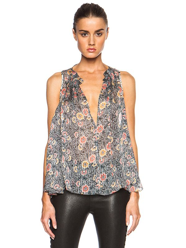 Isabel Marant Alika Color Block Print Tank