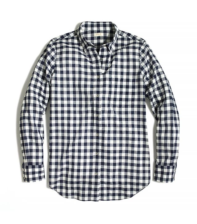J.Crew Gingham Button-Down Shirt