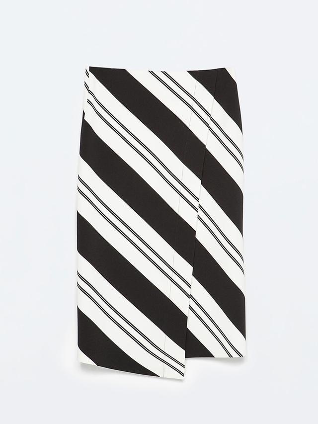 Zara Striped Sarong Skirt