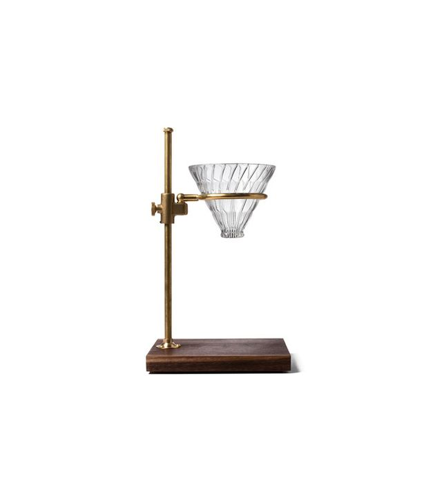 Kaufmann Mercantile Brass & Walnut Pour-Over Coffee Brewer