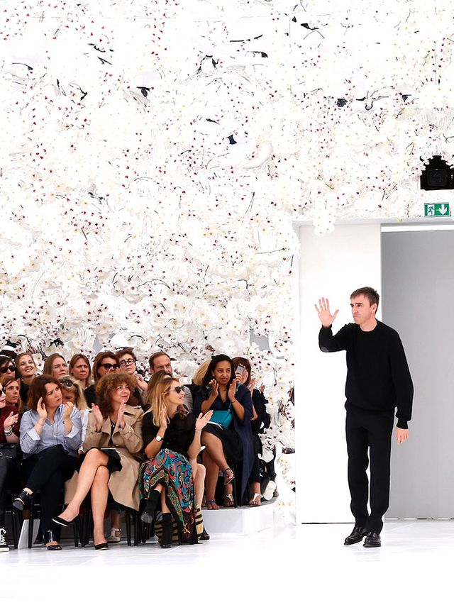 Raf Simons Got Very Emotional Before His First Show for Dior