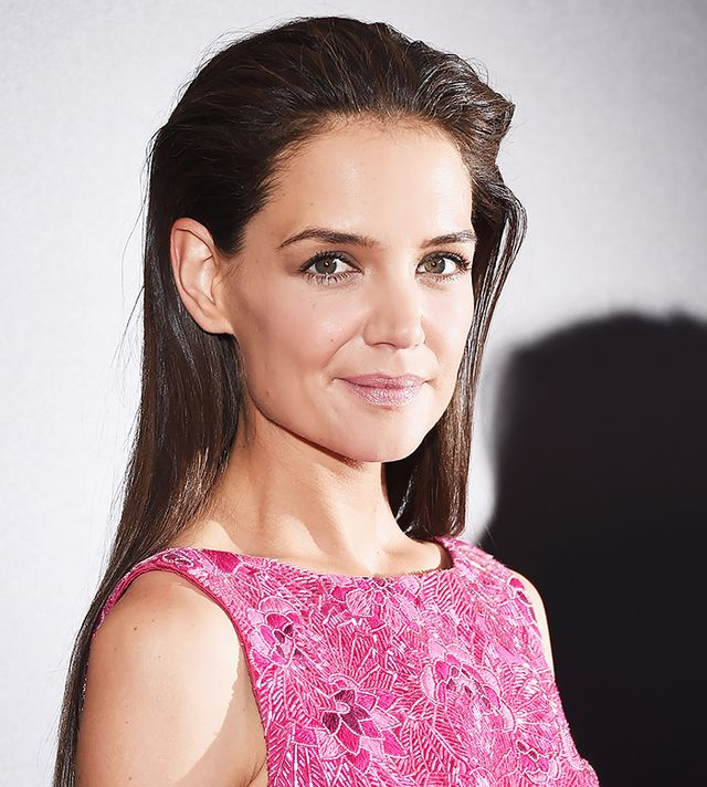 Look of the Day: Katie Holmes' Cool, Swept-Back Down 'Do