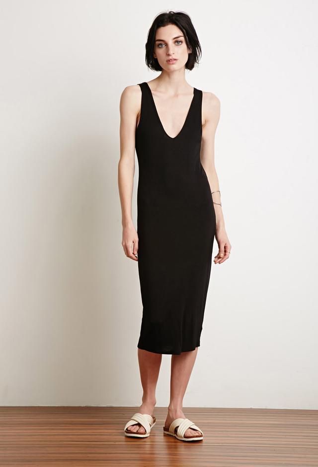 Forever 21 V-Cut Midi Dress