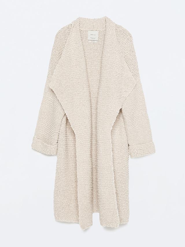 Zara Long-Knitted Cardigan ($