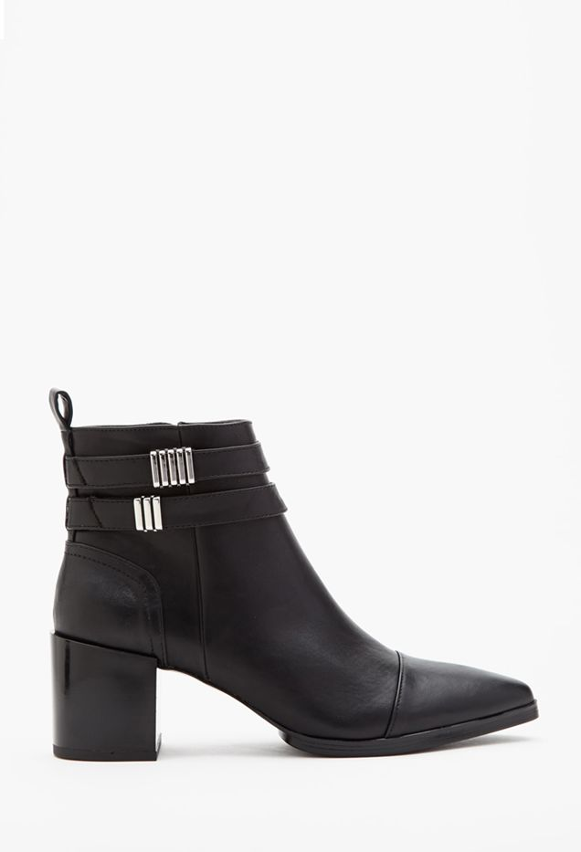 Forever 21 Strapped Faux Leather Booties