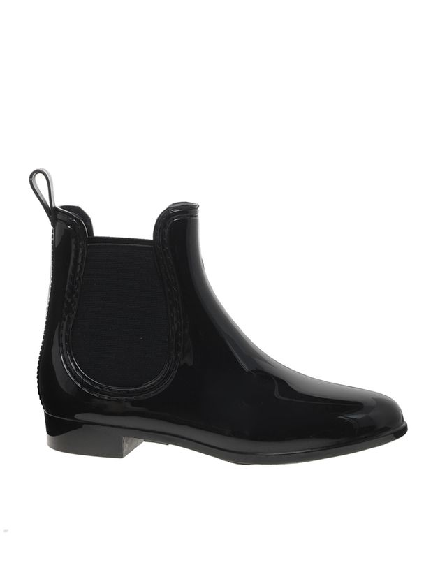 JuJu Black Chelsea Jelly Ankle Boots