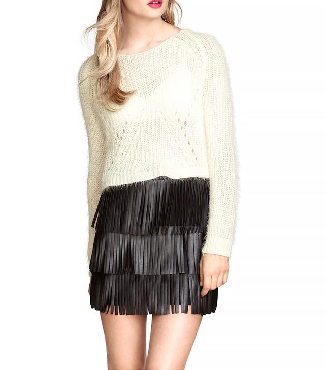 H&M Fringe Skirt