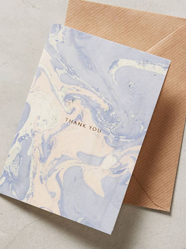 Katie Leamon Marbled Thank You Card