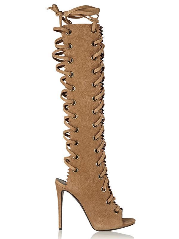 Giuseppe Zanotti Textured-Suede Knee Boots