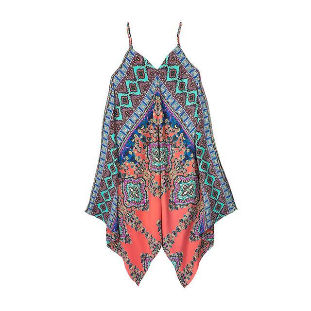Design Lab Printed Handkerchief Dress