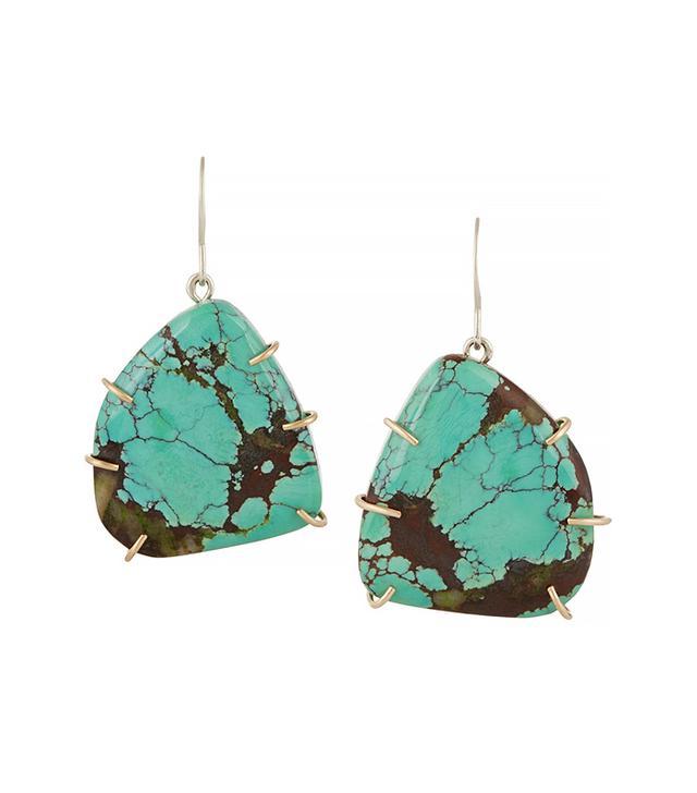 Melissa Joy Manning Sterling Silver Turquoise Earrings